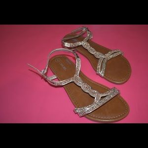 Sparkly Braided Sandals | Kids' Shoes | Girls